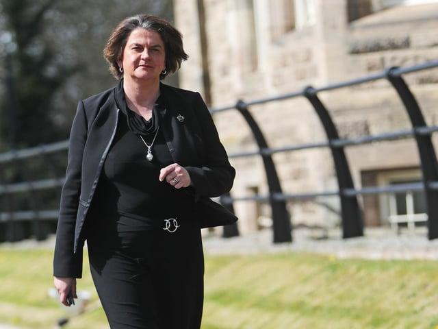 First Minister, Arlene Foster.