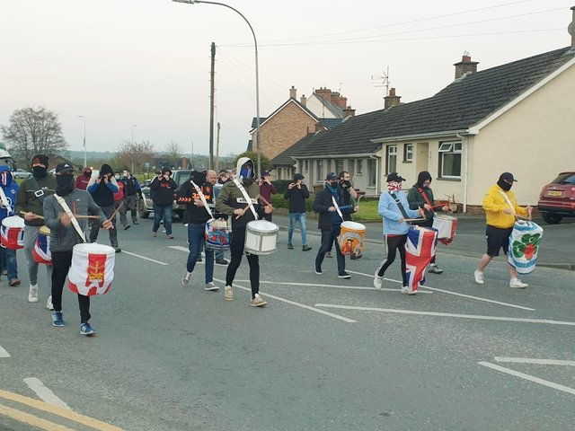 The protest parade in Markethill on Wednesday just past.