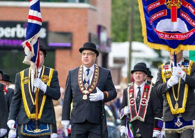 Sovereign Grand Master Rev William Anderson on parade