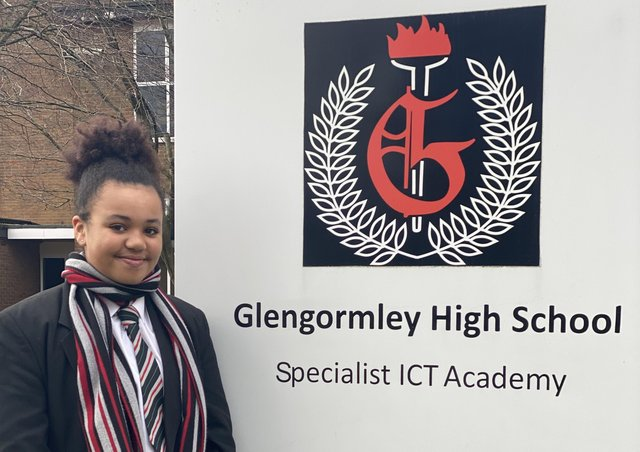 Lavinia Lynch transferred to Glengormley High from Glengormley Integrated Primary last year.