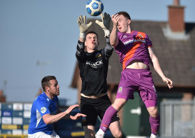Glenavon and Linfield players will feature across the two post-split Danske Bank Premiership fixtures sections. Pic by Pacemaker