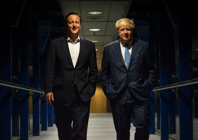 David Cameron and Boris Johnson, seen together in late 2014 when Mr Cameron was prime minister and Mr Johnson mayor of London, both slid effortlessly through Eton and Oxford into stellar careers. But, their privilege and initial success followed parallel trajectories towards selfishness and error