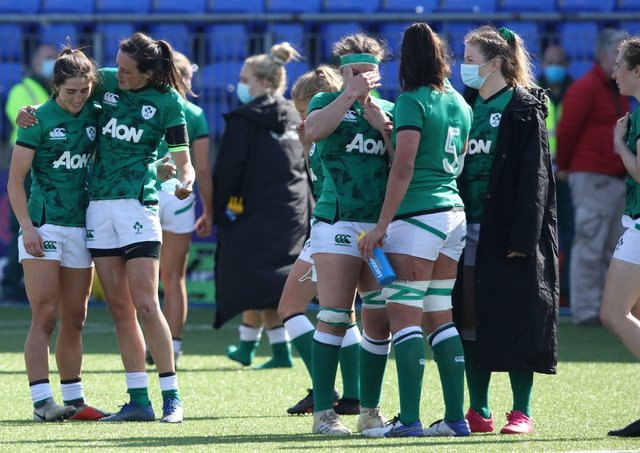 Ireland finished third in the Women's Six Nations after beating Italy. ((Photo by PAUL FAITH/AFP via Getty Images)