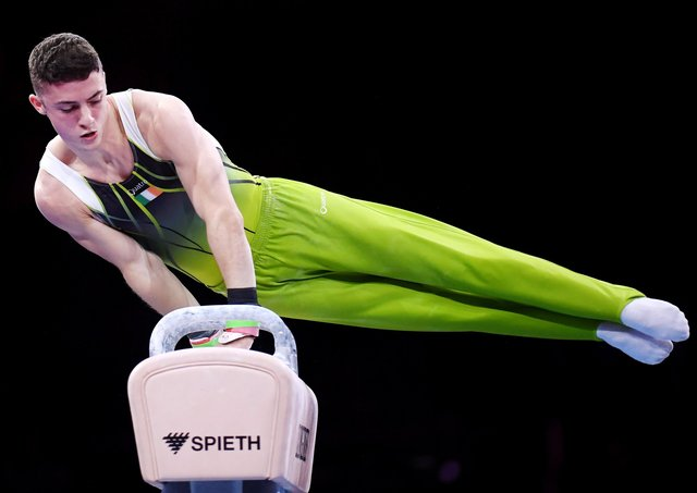 Rhys McClenaghan of Ireland. (Photo by Laurence Griffiths/Getty Images)