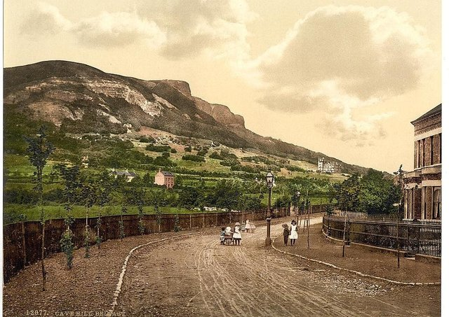 An old postcard showing Cave Hill, Belfast, Co Antrim. Picture: The Library of Congress