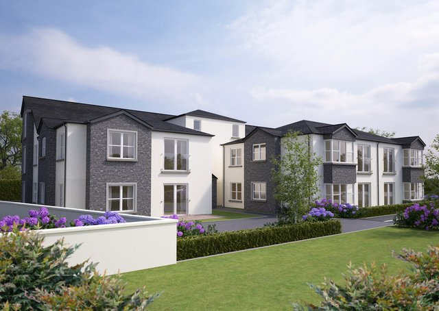 CGI design images of the homes for independent older people in which will be situated on Fir Park, Broughshane