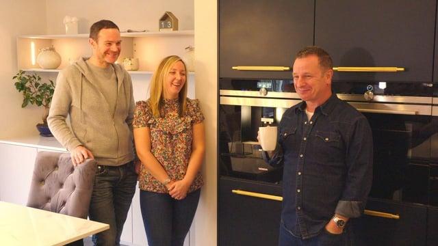 Mark with Eddie and Michelle, Glasgow