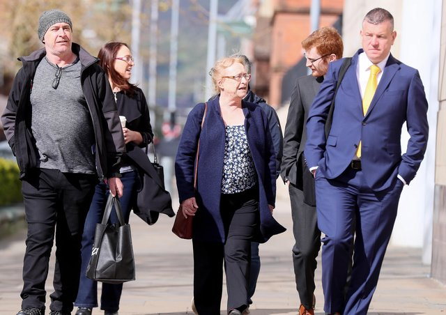 Joe McCannl's family members arrive at court on Tuesday. Picture by Jonathan Porter/PressEye