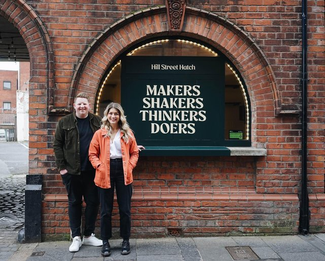 Hill Street Hatch founders Ryan Crown and Ema O'Kane at their premises in Belfast's Cathedral Quarter