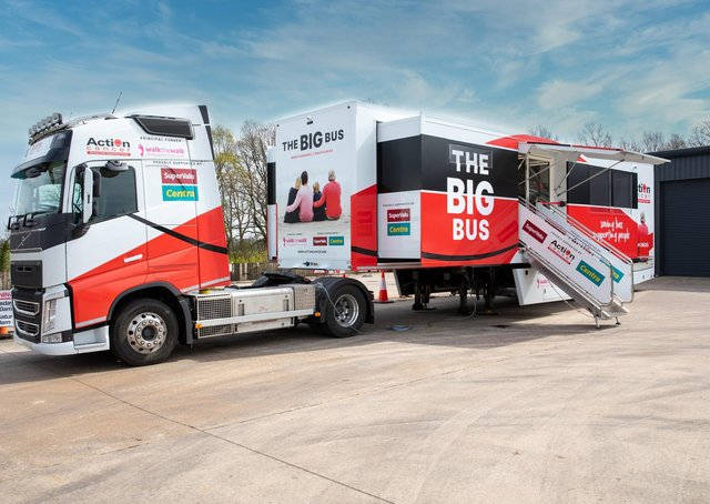 Action Cancer's new Big Bus