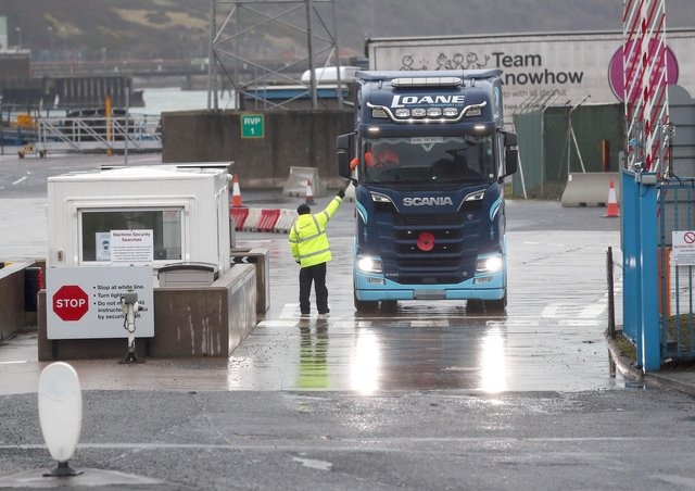 The decision to withdraw staff operating post-Brexit checks on goods arriving at the Larne port is being investigated by the Daera committee at Stormont. Picture: Stephen Davison/Pacemaker