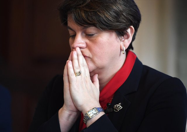 Arlene Foster's time as DUP leader appears to be close to an end. Photo: Leon Neal/Getty