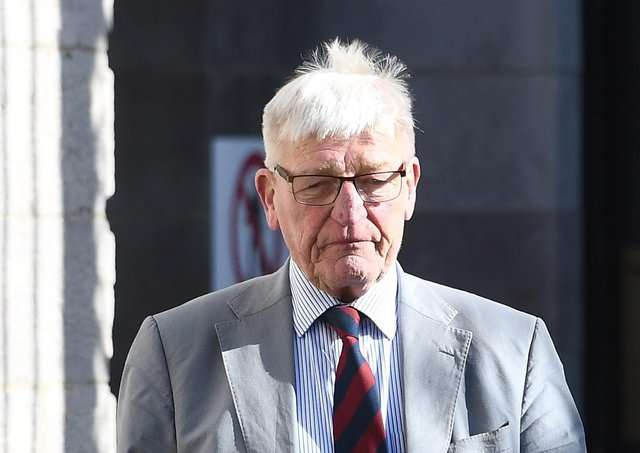 Former Soldier  Dennis Hutchings appears at Armagh Court