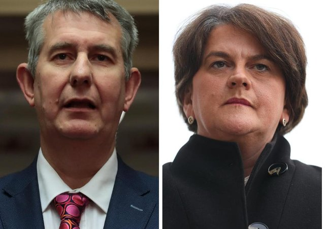 Agriculture Minister Edwin Poots and DUP leader and First Minister, Arlene Foster.