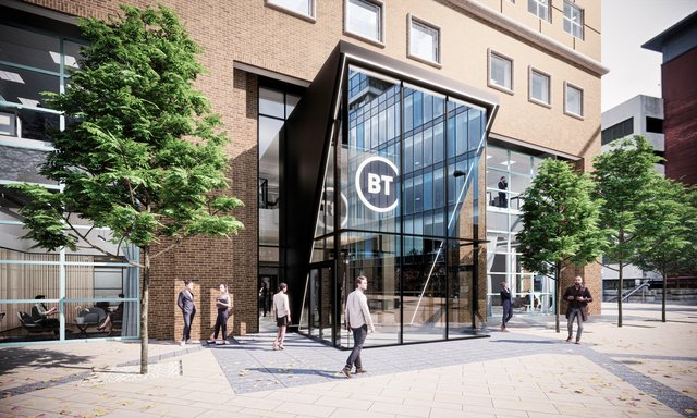 An artists impression of the Belfast flagship office
