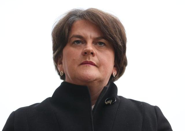 DUP leader, Arlene Foster.