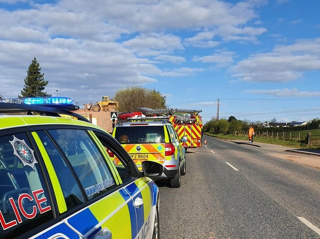 PSNI picture of the scene at Drum Road earlier today.