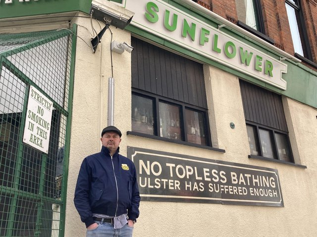 Sunflower Bar owner Pedro Donald said his arrangements which met regulations last summer have been rejected by Belfast City Council