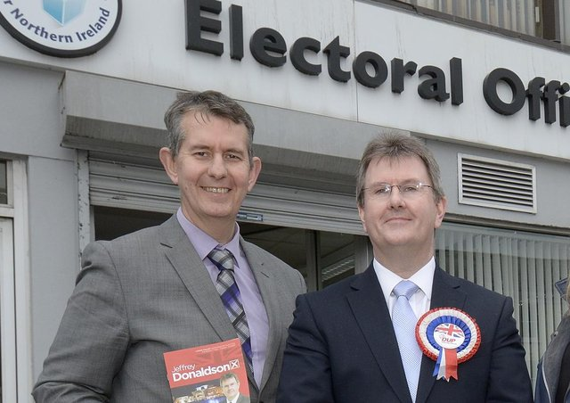 Edwin Poots and Sir Jeffrey Donaldson have seemed pragmatic about the Irish Sea border, as much as Arlene Foster has done  — and the Ulster Unionist Party too