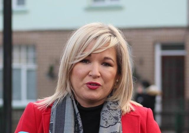 Sinn Fein Deputy First Minister Michelle O'Neill