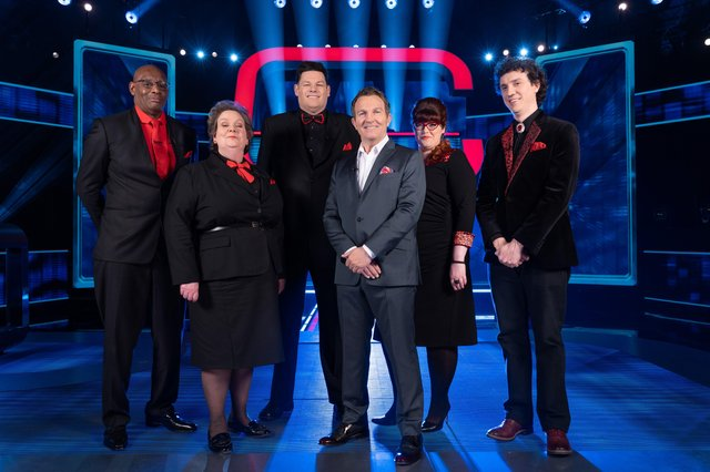 Shaun 'The Dark Destroyer' Wallace, Anne 'The Governess' Hegerty, Mark 'The Beast' Labbett, Bradley Walsh, Jenny 'The Vixen' Ryan and Darragh 'The Menace' Ennis