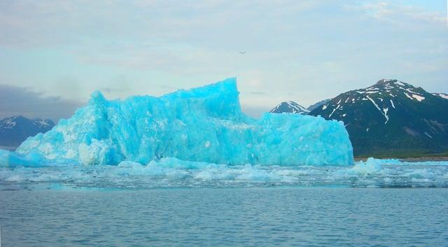 Icebergs in Harlequin Lake, Alaska