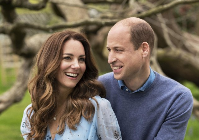 The Duke and Duchess of Cambridge taken at Kensington Palace this week to mark their 10th wedding anniversary.  Chris Floyd/Camera Pre
