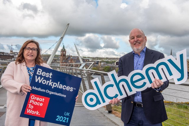Anne O'Neill Head of HR and John Harkin, Founder and CEO