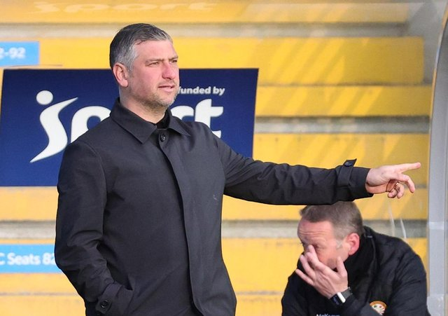 Portadown manager Matthew Tipton. Pic by Pacemaker.