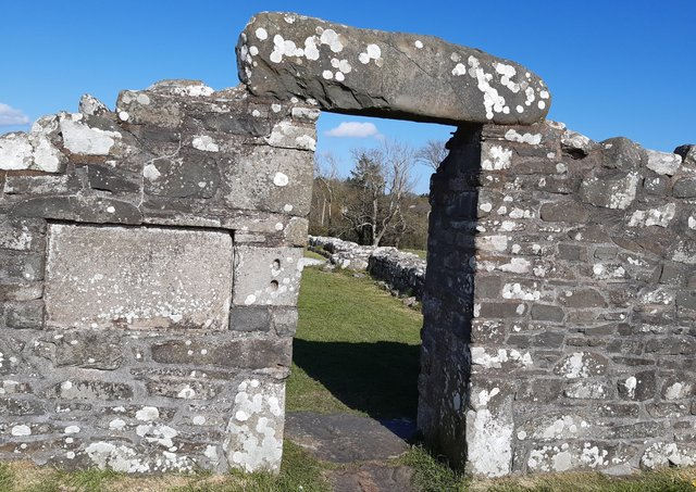 The entrance to the old church at the Nendrum Monastic Site on the shores of Strangford Lough. Picture: Darryl Armitage