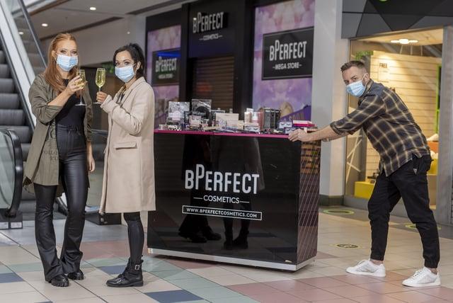 BPerfect's Clarrisa Mallon, Brendan McDowell and Eimhear O'Kane