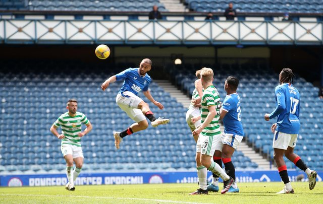 Rangers' Kemar Roofe scored a brace in the 4-1 victory over Celtic.