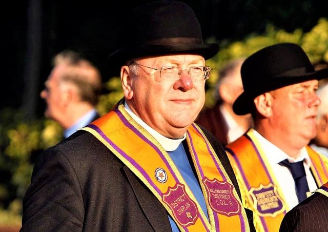 The Rev Mervyn Gibson has been grand secretary of the Grand Orange Lodge of Ireland since 2016