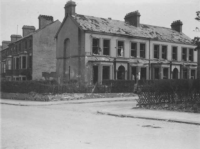 Helen's Family House, 2 Evelyn Gardens after 5th May Blitz. It was demolished, but next door still there today