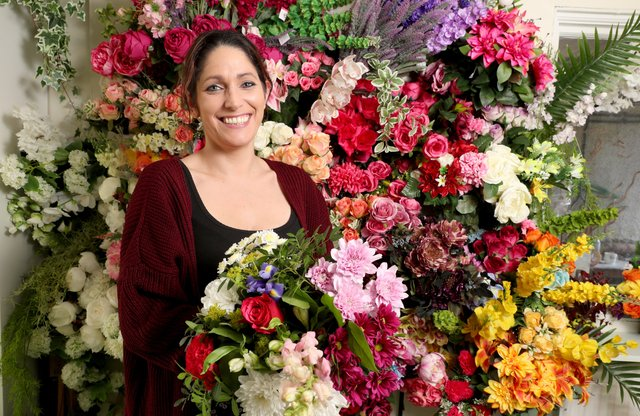 Helen Reidy from Ivy Lane Floral Design in Antrim who has previously availed of Council's Business Support and Mentoring programmes