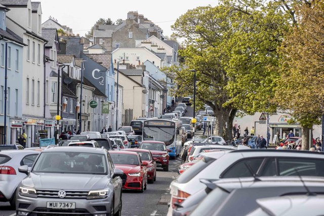 Crowds flocked to Ballycastle Co Antrim on Sunday as restrictions start to ease in Northern Ireland