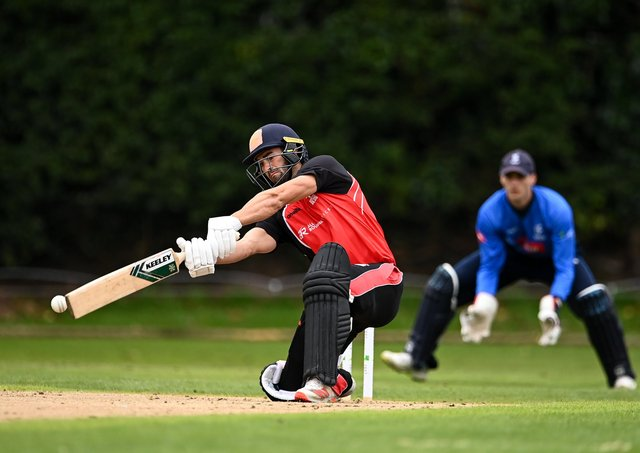 Jeremy Lawlor on duty last year with Munster Reds. Pic courtesy of Cricket Ireland.