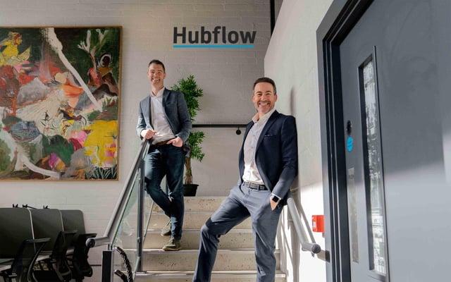 Declan Mellan and Gary McCausland, founders of Belfast-based Hubflow