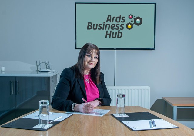 Angela McAllister who has been appointed to the new post of Property and Conference Co-ordinator at Ards Business Hub