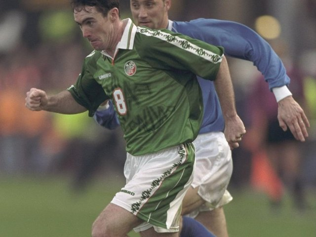 Alan McLoughlin was capped 42 times by Ireland