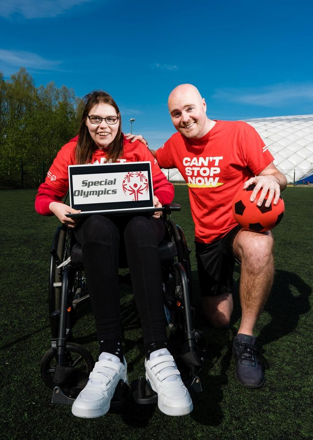 Paddy Raff with his sister Sarah at the launch of the Special Olympics Collection Day campagin