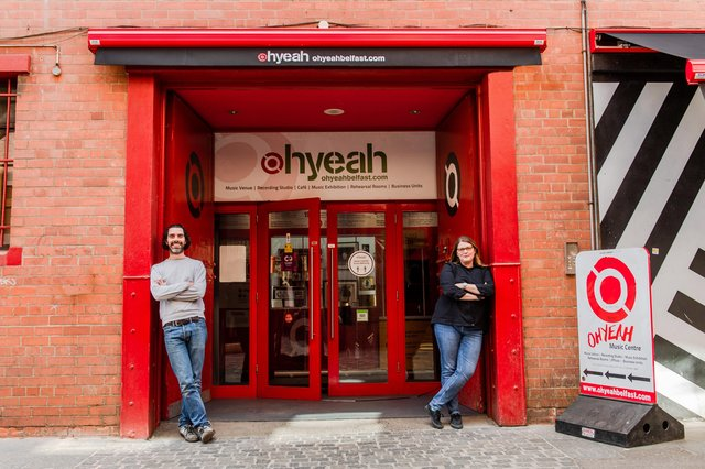 Dee McAdams and Charlotte Dryden, CEO Oh Yeah Music Centre in Belfast