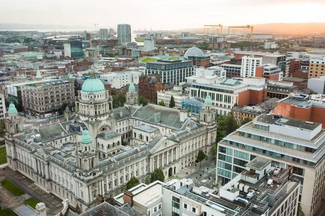 Belfast City Hall landscape