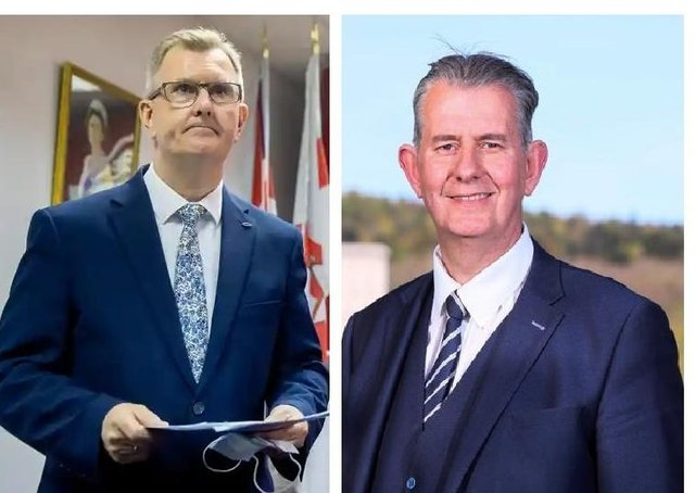 DUP leadership candidates Sir Jeffrey Donaldson (left) and Edwin Poots