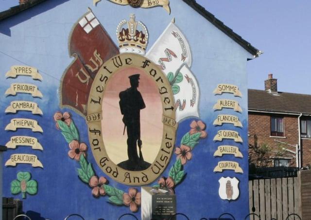 A UVF wall mural