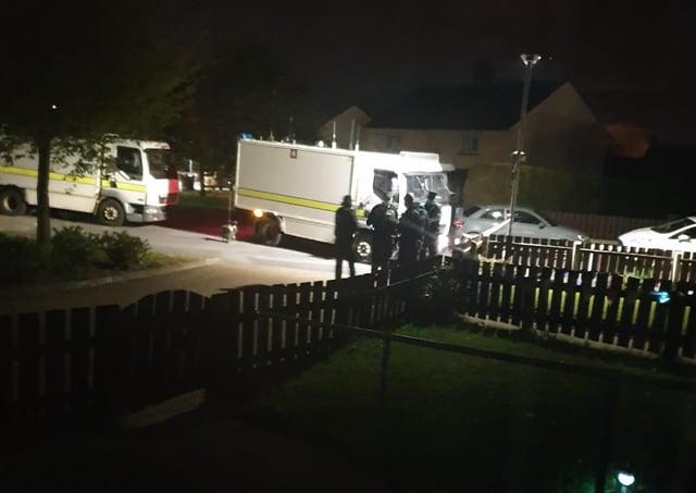 Pipe bomb attack in Portadown.