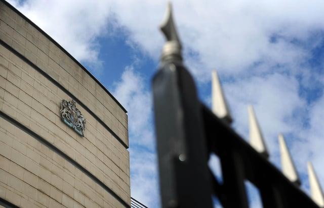 Laganside court complex in Belfast city centre.