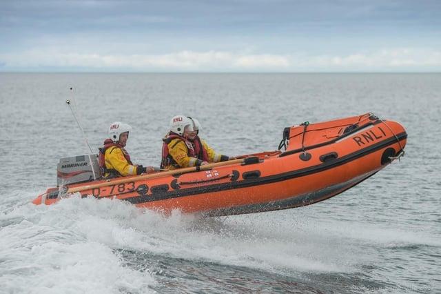 Larne RNLI inshore lifeboat.