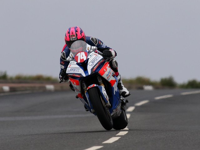 Davey Todd in action at the Isle of Man TT in 2019.