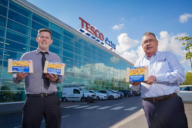 Michael Crealey, Buying Manager at Tesco NI and Stephen McNeice, Account Manager at TS Foods